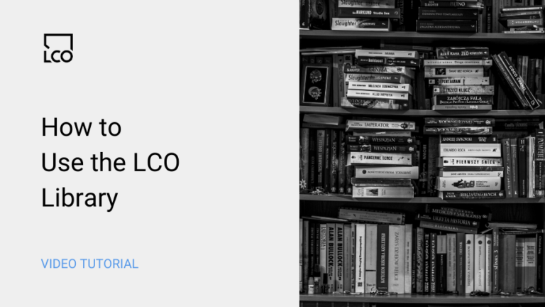 how to use the lco library