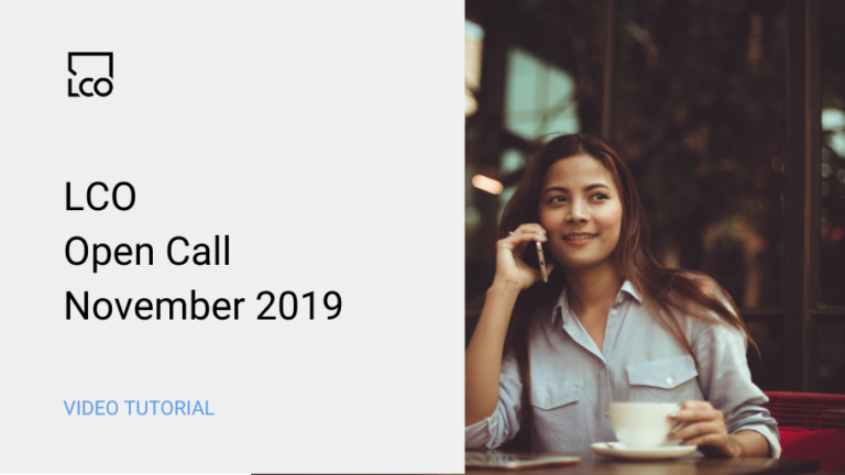LCO Open Call Nov 2019